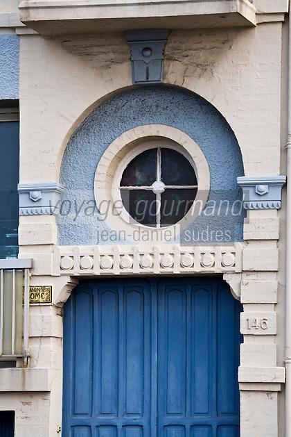 Europe/France/Normandie/Haute-Normandie/76/Seine-Maritime/Le Havre: Détail de la porte d'une villa du front de mer