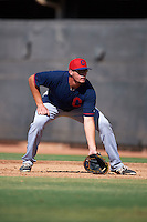 Cleveland Indians Anthony Miller (30) during an instructional league game against the Milwaukee Brewers on October 8, 2015 at the Maryvale Baseball Complex in Maryvale, Arizona.  (Mike Janes/Four Seam Images)