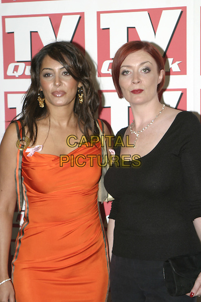 LAILA ROUASS.TV Quick Awards 2004, The Dorchester Hotel, London, September 6th 2004..half length orange dress.Ref: AH.www.capitalpictures.com.sales@capitalpictures.com.©Capital Pictures.