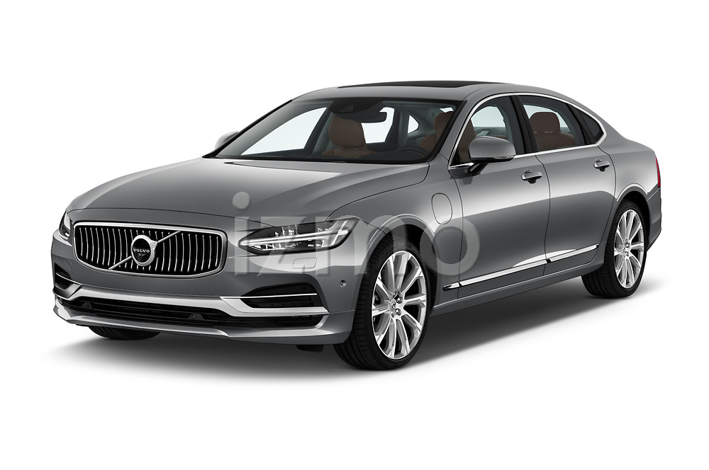 2018 Volvo S90 Inscription 4 Door Sedan Angular Front stock photos of front three quarter view