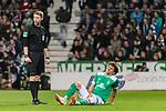 01.12.2018, Weserstadion, Bremen, GER, 1.FBL, Werder Bremen vs FC Bayern Muenchen<br /> <br /> DFL REGULATIONS PROHIBIT ANY USE OF PHOTOGRAPHS AS IMAGE SEQUENCES AND/OR QUASI-VIDEO.<br /> <br /> im Bild / picture shows<br /> Milos Veljkovic (Werder Bremen #13) verletzt am Boden, h&auml;lt sich den Oberschenkel links, <br /> <br /> Foto &copy; nordphoto / Ewert