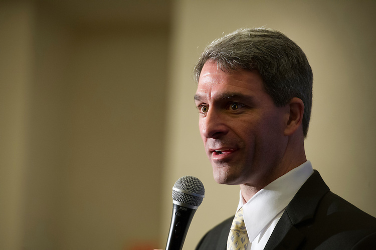 "UNITED STATES - Oct 28: Kenneth Thomas ""Ken"" Cuccinelli II is the current Attorney General of Virginia and the Republican candidate for Governor of Virginia in the 2013 Virginia gubernatorial election at a rally at the Waterford in Fairfax Virginia. (Photo By Douglas Graham/CQ Roll Call)"