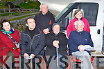 ATTENDENCE: At the vnveiling of the monument of the fishermen lost at sea at Frnit Pier on Sunday seated l-r: Caitlen Hayes, Fred Menanteau, Mark O'Brien, Fr Gearoid O'Donoghue. Back l-r: Fr Eamon Mulvihill and Rev Jane Galbraith.