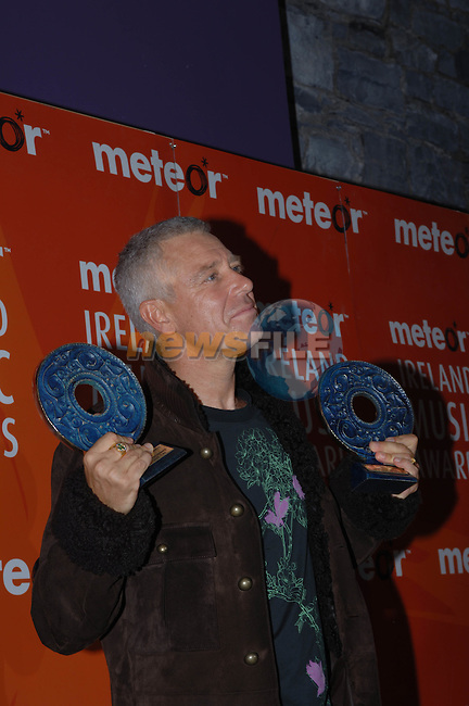 Adam Clayton at the  Meteor Awards at the Point Depot in Dublin.Photo NEWSFILE/Colin Bell..(Photo credit should read Colin Bell/NEWSFILE)...This Picture has been sent you under the condtions enclosed by:.Newsfile Ltd..the Studio,.Millmount Abbey,.Drogheda,.Co Meath..Ireland..Tel: +353(0)41-9871240.Fax: +353(0)41-9871260.GSM: +353(0)86-2500958.email: pictures@newsfile.ie.www.newsfile.ie.FTP: 193.120.102.198..This picture is from Fran Caffrey@newsfile.ie