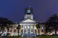 TALLAHASSEE, FLA. 3/4/15-The Historic Capitol building of Florida as seen at night in Tallahassee.<br />