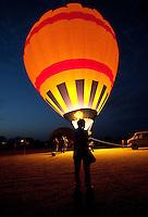 Hot air balloons on display near Fredericksburg, Texas, Friday, July 24, 2009. (Darren Abate/pressphotointl.com)
