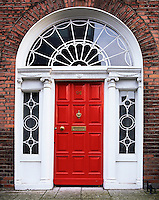 Ireland, Dublin County, Dublin: Georgian Door | Irland, Dublin County, Dublin: Georgianische Tuer