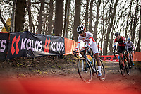 Ceylin Del Carmen Alvarado (NED/Alpecin Fenix) and Lucinda Brand (NED/Telenet Baloise Lions)<br /> <br /> Elite Womens Race <br /> UCI Cyclocross Worldcup – Hoogerheide (Netherlands)<br /> ©kramon