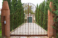 Gate to a private garden. Azeitao, Portugal.