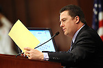 Nevada Assembly Speaker John Oceguera, D-Las Vegas, works on the Assembly floor Thursday, May 26, 2011, at the Legislature in Carson City, Nev. .Photo by Cathleen Allison