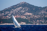 Croatia, Sailing, Hvar Island, Dalmatian Coast, Dalmatian Islands, Southern Dalmatia, Adriatic Sea, Europe,.