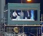 David Tanner, Kenny Miller and Jimmy Calderwood in the Sky Studio