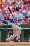 15 June 2016: Chicago Cubs first baseman Anthony Rizzo in action against the Washington Nationals at Nationals Park in Washington, DC. The Cubs fell to the Nationals 5-4 in 12 innings, giving up the rubber match of their 3-game series. Mandatory Credit: Ed Wolfstein Photo *** RAW (NEF) Image File Available ***