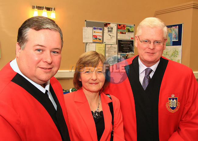 Paul Bell, Bríd Maher and Frank Maher at the Civic Reception for the Florale Judges in the Tholsel Tourist Office..Picture: Shane Maguire / www.newsfile.ie.
