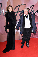 Catherine Bailey &amp; David Bailey at the Fashion Awards 2016 at the Royal Albert Hall, London. December 5, 2016<br /> Picture: Steve Vas/Featureflash/SilverHub 0208 004 5359/ 07711 972644 Editors@silverhubmedia.com
