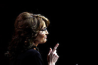Former Alaska Governor and Tea Party figure Sarah Palin pictured during CPAC 2014 at National Harbor, Maryland  Saturday 8 March 2014. Trevor Collens/Alamy