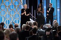 Glenn Close accepts the Golden Globe Award for BEST PERFORMANCE BY AN ACTRESS IN A MOTION PICTURE &ndash; DRAMA for her role in &quot;The Wife&quot; at the 76th Annual Golden Globe Awards at the Beverly Hilton in Beverly Hills, CA on Sunday, January 6, 2019.<br /> *Editorial Use Only*<br /> CAP/PLF/HFPA<br /> Image supplied by Capital Pictures