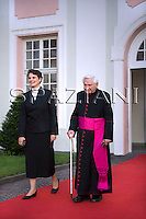 Fratello del Papa Georg Ratzinger ;Pope's brother Georg Ratzinger,Pope Benedict XVI during a ceremony where he received the honorary citizenship of Bressanone, in this Northern Italian mountain resort,.. Aug. 9, 2008...