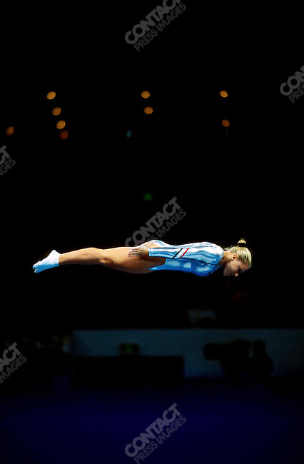 Trampoline, women. Jennifer Parilla (USA), Summer Olympics, Sydney, Australia, September 2000
