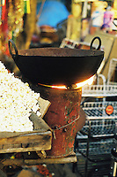 Popcorn at a night market, New Delhi, India.
