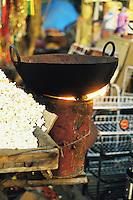 Popcorn at a night market, New Delhi, India.