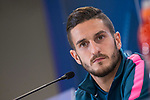Atletico de Madrid's Koke Resurrection attends to press conference before UEFA Champions League match between Atletico de Madrid and Chelsea at Wanda Metropolitano in Madrid, Spain September 26, 2017. (ALTERPHOTOS/Borja B.Hojas)