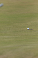 Nicolas Colsaerts (BEL) putts on the 7th green and leaves his ball on the lip during Saturday's Round 3 of the 2018 Dubai Duty Free Irish Open, held at Ballyliffin Golf Club, Ireland. 7th July 2018.<br /> Picture: Eoin Clarke | Golffile<br /> <br /> <br /> All photos usage must carry mandatory copyright credit (&copy; Golffile | Eoin Clarke)