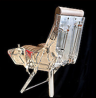 BNPS.co.uk (01202 558833)<br /> Pic: PhilYeomans/BNPS<br /> <br /> Bespoke furniture for the Jet Set.<br /> <br /> A highly polished Martin Baker Mk 10 ejector seat from a Tornado - yours for &pound;7000 + VAT<br /> <br /> Two brother's have come up with ultimate in aircraft recycling - turning unwanted bits of redundant airliners into highly desirable - and highly expensive - bespoke items of furniture.<br /> <br /> Brett and Shane Armstrong from Kent scour the worlds aircraft graveyards looking for interesting items they can rescue from sad decay and with a lot of imagination and elbow grease convert into one-off gleaming items of furniture costing thousands of pounds.