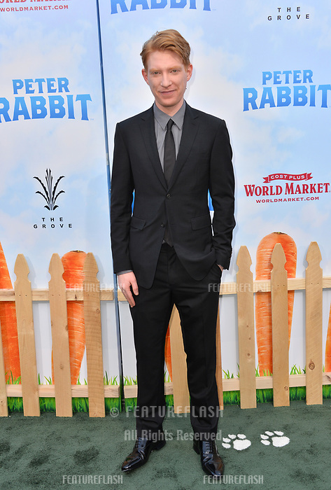 Domhnall Gleeson at the world premiere for &quot;Peter Rabbit&quot; at The Grove, Los Angeles, USA 03 Feb. 2018<br /> Picture: Paul Smith/Featureflash/SilverHub 0208 004 5359 sales@silverhubmedia.com