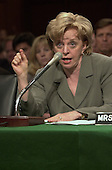 Mrs. Lynne Cheney, Former Chairman, National Endowment for the Humanities, and wife of Dick Cheney, the Republican nominee for Vice President of the United States testifies on Capitol Hill before the U.S. Senate Committee on Commerce, Science, and Transportation hearing on marketing Violence to Children on September 13, 2000.<br /> Credit: Ron Sachs / CNP