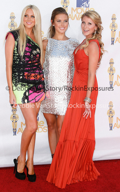 Stephanie Pratt,Audrina Patridge & Lauren LO Bosworth at the 2010 MTV Movie Awards held at The Gibson Ampitheatre in Universal City, California on June 06,2010                                                                               © 2010 Debbie VanStory / Hollywood Press Agency