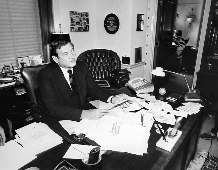 "Rep. Daniel David ""Dan"" Rostenkowski, D-Ill., Chairman of the Ways and Means Committee. June 1985 (Photo by CQ Roll Call)"