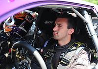 Jun. 3, 2012; Englishtown, NJ, USA: NHRA pro stock driver Vincent Nobile during the Supernationals at Raceway Park. Mandatory Credit: Mark J. Rebilas-