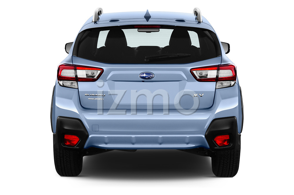 Straight rear view of a 2018 Subaru XV Premium 5 Door SUV stock images