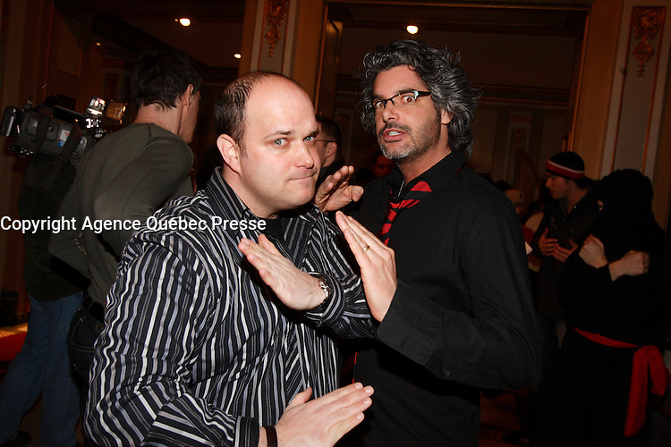 Montreal (Qc) CANADA - Feb 22 2007<br /> <br /> vREal Beland,Voisins Dhantsu Premiere a l'imperial
