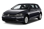 2017 Volkswagen Golf Trendline 3 Door Hatchback angular front stock photos of front three quarter view