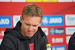 05.10.2019, BayArena, Leverkusen, GER, 1. FBL, Bayer 04 Leverkusen vs. RB Leipzig,<br />  <br /> DFL regulations prohibit any use of photographs as image sequences and/or quasi-video<br /> <br /> im Bild / picture shows: <br /> Pressekonferenz (PK) nach dem Spiel,  Julian Nagelsmann Cheftrainer/Headcoach (RB Leipzig), <br /> <br /> Foto © nordphoto / Meuter