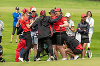 Canterbury Women celebrate winning the semi final over North Harbour. Toro New Zealand Womens Interprovincial Tournament, Waitikiri Golf Club, Christchurch, New Zealand, Saturday 8th December 2018. Photo:Martin Hunter /www.bwmedia.co.nz