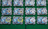 Match day badges during the Sky Bet League 2 match between Wycombe Wanderers and Crawley Town at Adams Park, High Wycombe, England on 28 December 2015. Photo by Andy Rowland / PRiME Media Images