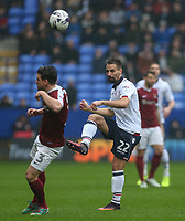 Bolton Wanderers' Filipe Morais plays a ball over Northampton Town's David Buchanan<br /> <br /> Photographer Alex Dodd/CameraSport<br /> <br /> The EFL Sky Bet League One - Bolton Wanderers v Northampton Town - Saturday 18th March 2017 - Macron Stadium - Bolton<br /> <br /> World Copyright &copy; 2017 CameraSport. All rights reserved. 43 Linden Ave. Countesthorpe. Leicester. England. LE8 5PG - Tel: +44 (0) 116 277 4147 - admin@camerasport.com - www.camerasport.com