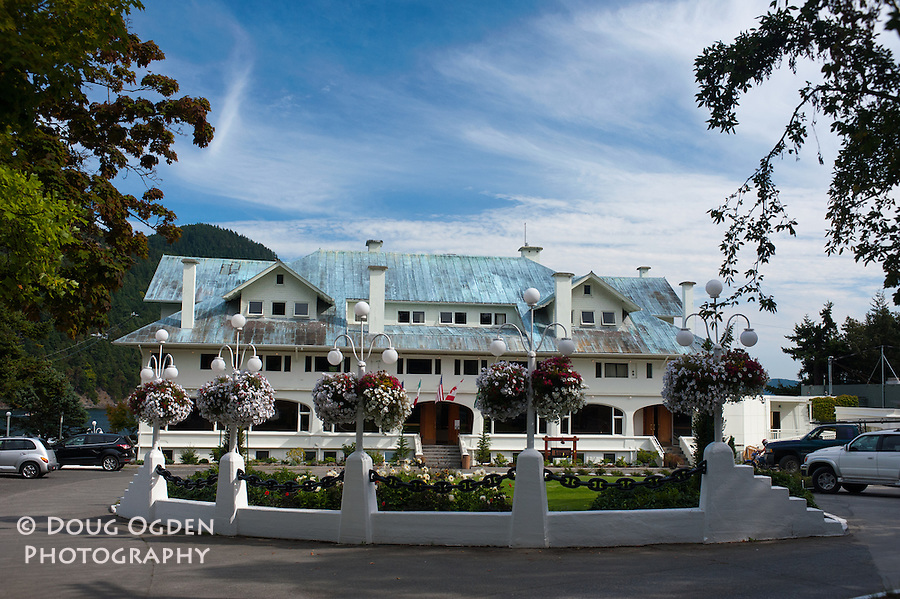 The beautiful entrance to the world  famous Rosario Resort, Orcas Island, San Juan Islands, Washington