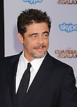 HOLLYWOOD, CA- JULY 21: Actor Benicio Del Toro arrives at the Los Angeles premiere of Marvel's 'Guardians Of The Galaxy' at the El Capitan Theatre on July 21, 2014 in Hollywood, California.
