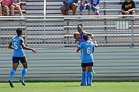 Boyds, MD - Sunday July 31, 2016: Tasha Kai celebrates scoring, Taylor Lytle during a regular season National Women's Soccer League (NWSL) match between the Washington Spirit and Sky Blue FC at Maureen Hendricks Field, Maryland SoccerPlex.