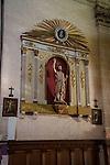 Detail in the interior of the Monastery of Bonany, Es Pla, Mallorca. Bonany was the site of the last sermon of Fr. Junipero Serra before leaving for the Mexico and California in 1735...Santuario de la Mare de Deú de Bonany was orignally constructed in the XVII. century.