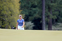 Jennifer Kupcho (USA) walking onto the 18th green during the final  round at the Augusta National Womans Amateur 2019, Augusta National, Augusta, Georgia, USA. 06/04/2019.<br /> Picture Fran Caffrey / Golffile.ie<br /> <br /> All photo usage must carry mandatory copyright credit (© Golffile | Fran Caffrey)