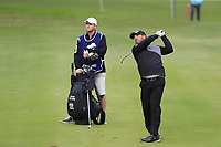 Justin Walters (RSA) plays his 2nd shot on the 14th hole during Friday's storm delayed Round 2 of the Andalucia Valderrama Masters 2018 hosted by the Sergio Foundation, held at Real Golf de Valderrama, Sotogrande, San Roque, Spain. 19th October 2018.<br /> Picture: Eoin Clarke | Golffile<br /> <br /> <br /> All photos usage must carry mandatory copyright credit (&copy; Golffile | Eoin Clarke)
