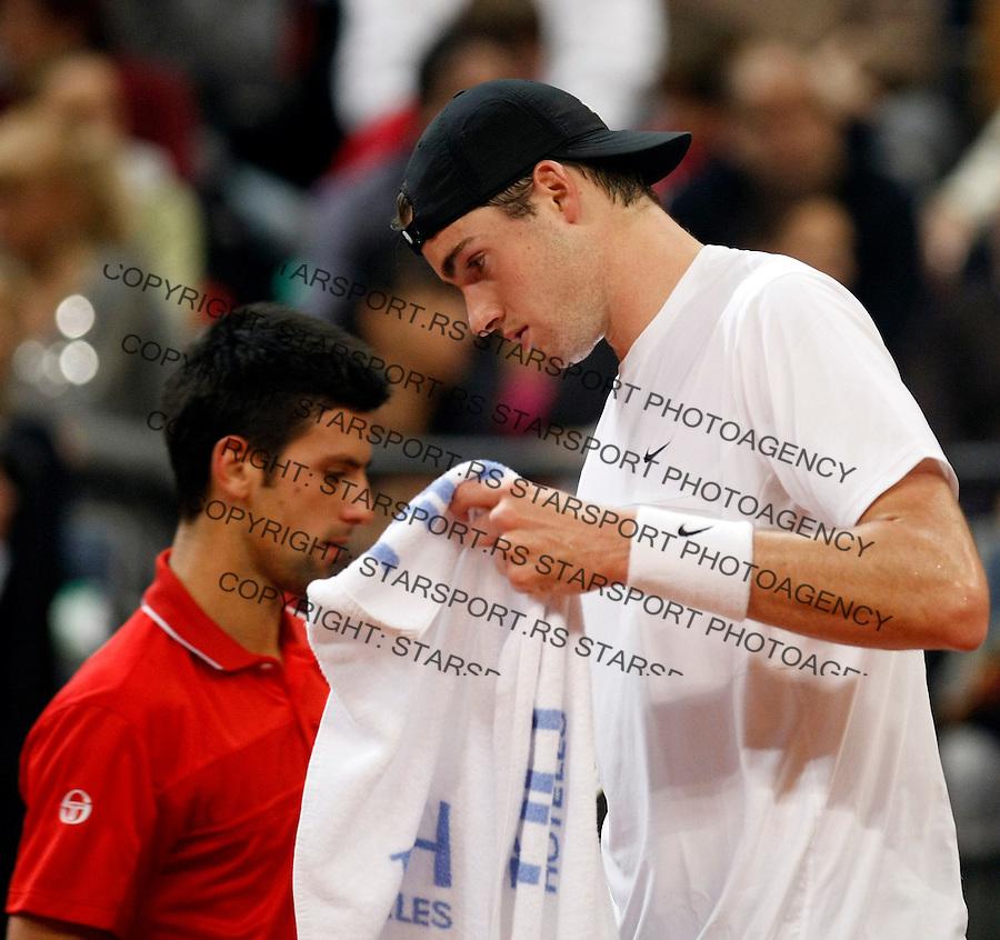 Tenis, Davis Cup 2010.Serbia Vs. USA.Novak Djokovic (SRB) Vs. John Isner (USA).Belgrade, 07.03.2010..foto: Srdjan Stevanovic/Starsportphoto ©