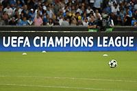 Champions League Banner Ball <br /> Napoli 16-08-2017 Stadio San Paolo <br /> Napoli - Nice Uefa Champions League 2017/2018 Play Off Foto Andrea Staccioli Insidefoto