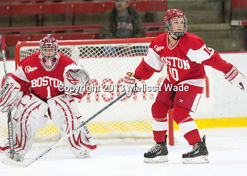 Alexis Woloschuk (BU - 10) - The Harvard University Crimson defeated the visiting Boston University Terriers 3-1 on Friday, November 22, 2013, at Bright-Landry Hockey Center in Cambridge, Massachusetts.
