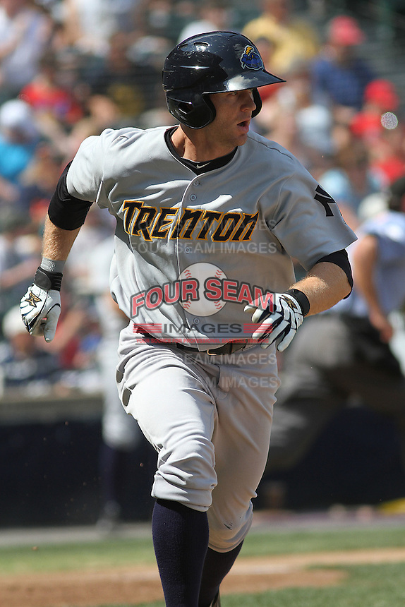 Trenton Thunder infielder David Adams #35 at bat during a game against the Richmond Flying Squirrels at The Diamond on May 27, 2012 in Richmond, Virginia. Richmond defeated Trenton by the score of 5-2. (Robert Gurganus/Four Seam Images)